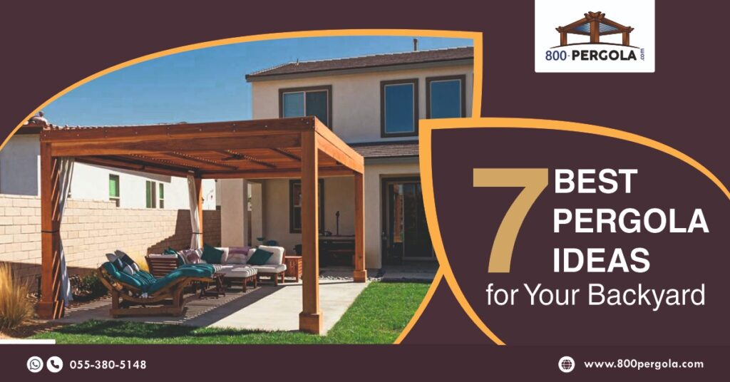 7 Best Pergola Ideas for Your Backyard, Pergola Ideas, Pergola designer in dubai, Wooden Pergola, Traditional Pergola, 800 Pergola
