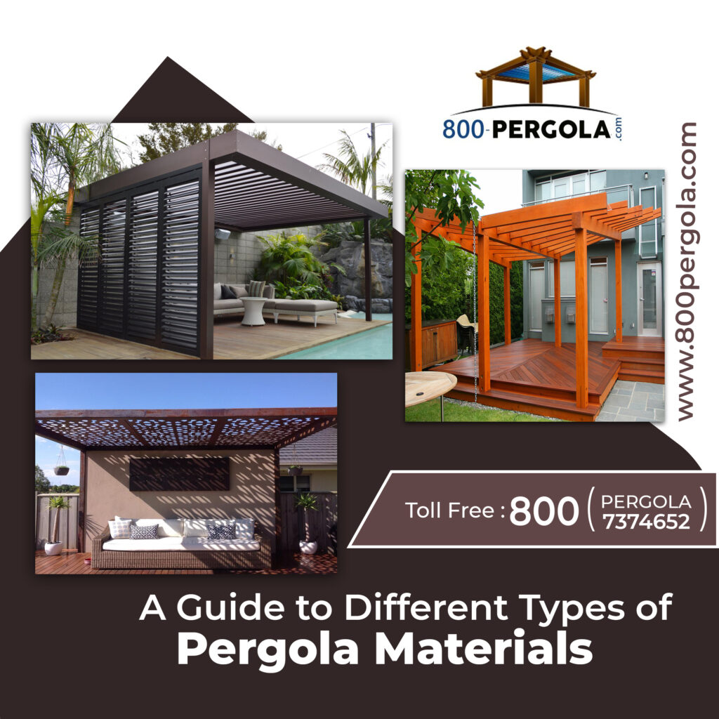 A Guide to Different Types of Pergola Materials , Pergola Materials, Pergola Designers in Dubai, Pergola Contractor in dubai