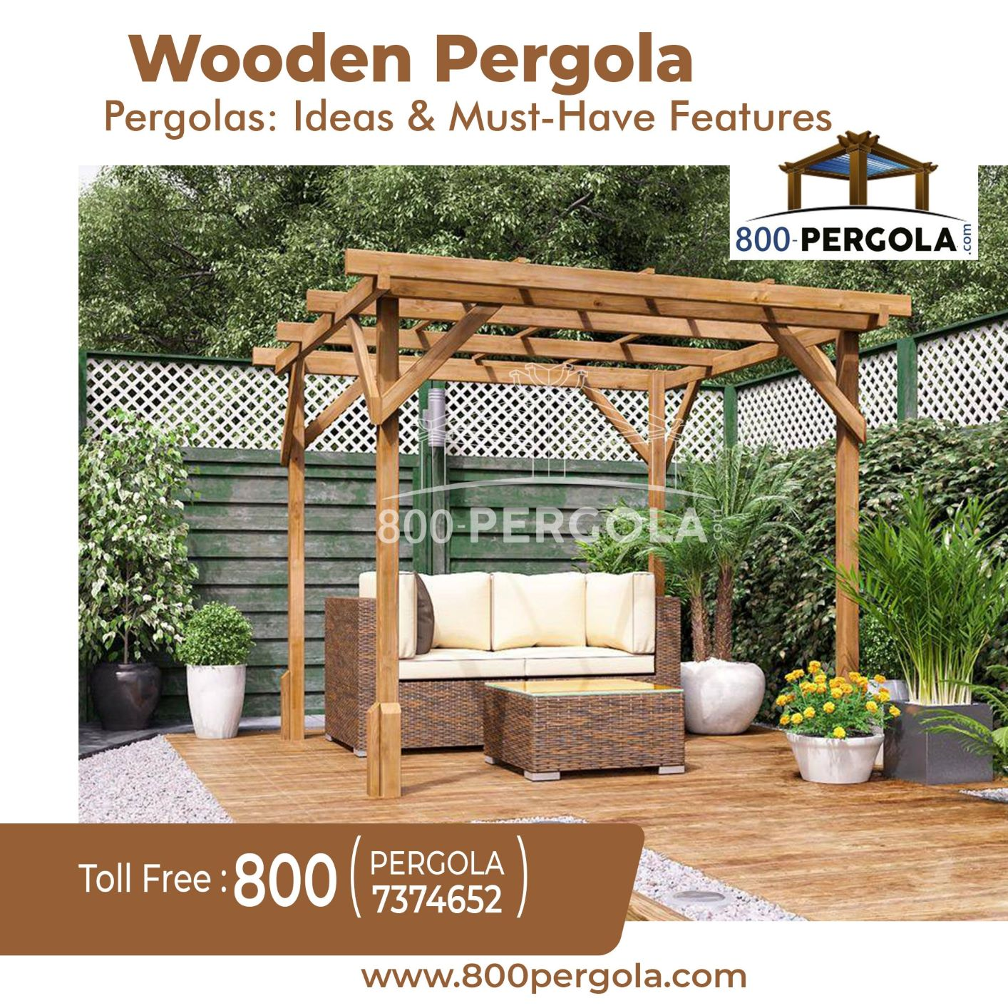 Wooden Pergolas: Ideas and Must-Have Features