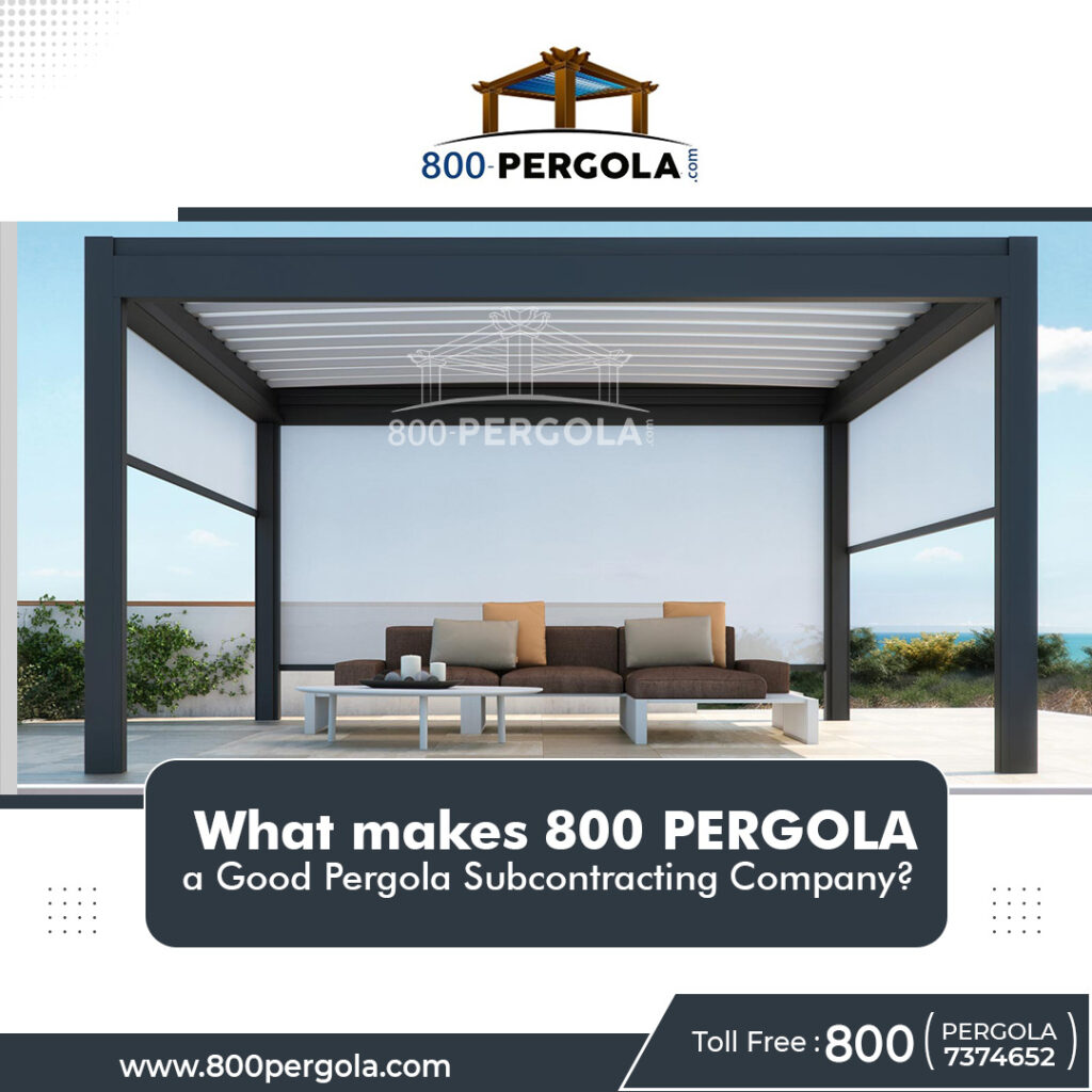 Are you confused with which company to subcontract for your client's pergola construction? Or are you in shortage of time and need to get the pergolas constructed for your building projects? If yes, then 800 PERGOLA is the best pergola subcontractor in Dubai to get all types of pergolas constructed in a short turnover of time with utmost uniqueness and elegance. Get connected with us today and satisfy your client's pergola dreams without making a splurge on your budget.